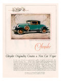 Chrysler, Magazine Advertisement, USA, 1928 Posters
