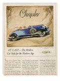 Chrysler, Magazine Advertisement, USA, 1928 Giclee Print