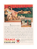 Texaco, Magazine Advertisement, USA, 1929 Giclee Print