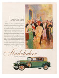 Studebaker, Magazine Advertisement, USA, 1929 Giclee Print