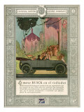 Buick, Magazine Advertisement, USA, 1920 Print