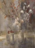 Silver Floral Prints by Simon Addyman