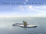Stop Global Warming Photographic Print