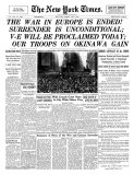 New York Times, May 8, 1945: The War in Europe is Ended! Prints