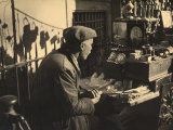 Old Antique Dealer with His Merchandise Photographic Print by Ludovico Pacho