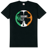 Flogging Molly - Distressed Circle Flag T-Shirt