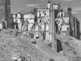 Ruins of Houses Between the Ponte Vecchio and the Ponte Santa Trinita Bombed in World War II Photographic Print by Vincenzo Balocchi
