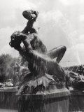Statue of the Fountain of the Naiads or of Acqua Marcia in Piazza Della Repubblica in Rome Photographic Print by Vincenzo Balocchi