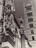 The Bell Tower and Part of the Cathedral's Facade, Siena Photographic Print by Vincenzo Balocchi