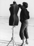 Woman and Manikin on the Beach Photographic Print by Vincenzo Balocchi