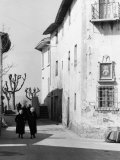 Women in a Street in the Country Photographic Print by Vincenzo Balocchi
