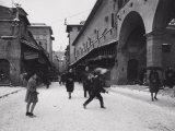 Ponte Vecchio with Snow Photographic Print by Vincenzo Balocchi