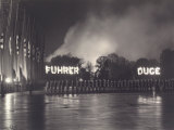 Military Parade with Burning Banners During Fuhrer's Tour of Italy in 1938 Photographic Print by Vincenzo Balocchi