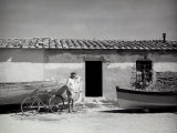 Fisherman in Front of a House Photographic Print by Vincenzo Balocchi