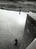 Two Fishermen Fishing on the Bank of a River Photographic Print by Vincenzo Balocchi