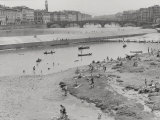 The Santa Rosa Fishing Weir in Florence Photographic Print by Vincenzo Balocchi