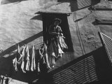 Woman Hanging the Laundry Out to Dry Photographic Print by Vincenzo Balocchi