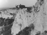 The Cliffs and the Church of the Abbey in Volterra Photographic Print by Vincenzo Balocchi