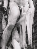 Neptune Fountain During an Ice-Storm, Piazza Della Signoria, Florence Photographic Print by Vincenzo Balocchi