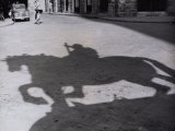Shadow of the Monument of Cosimo I in Piazza Della Signoria in Florence Photographic Print by Vincenzo Balocchi