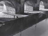 Fishermen under the Grazie Bridge, Florence Photographic Print by Vincenzo Balocchi