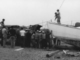 Men Launching a Boat Photographic Print by Vincenzo Balocchi