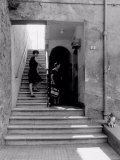 Women on the Stairs of Home, Massa Marittima Photographic Print by Vincenzo Balocchi