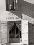 The Entrance to a Barber Shop Photographic Print by Vincenzo Balocchi