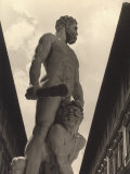 Hercules and Cacus, Statue by Baccio Bandinelli, Conserved in the Piazza Della Signoria in Florence Photographic Print by Vincenzo Balocchi