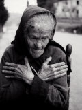 Portrait of Elderly Woman Photographic Print by Vincenzo Balocchi