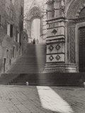 View of the Flight of Steps That Takes to the Piazza San Giovanni, Siena Photographic Print by Vincenzo Balocchi