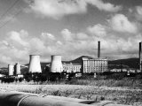 Industrial Landscape with Smokestacks Photographic Print by Vincenzo Balocchi