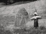 Scarecrow and Sheaf Photographic Print by Vincenzo Balocchi