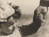 Child Taken by the Hand Photographic Print by Vincenzo Balocchi