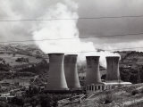 Smoke-Stacks from the Geothermic Plant in Lardello Photographic Print by Vincenzo Balocchi