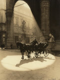 Carriage in the Piazza Della Signoria in Florence Photographic Print by Vincenzo Balocchi