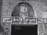 Portal to the Abbey of Sant'Antimo in the Province of Siena Photographic Print by Vincenzo Balocchi