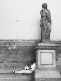 Statue of a Womanly Roman, Thusnelda, Loggia De' Lanzi, Piazza Della Signoria, Florence Photographic Print by Vincenzo Balocchi