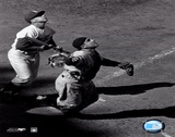 Yogi Berra - catching action / sepia ©Photofile Posters