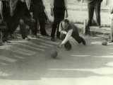 The Game of Bocce Ball Photographic Print by Vincenzo Balocchi