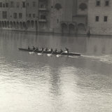 Rowers on the River Arno Near Ponte Vecchio Photographic Print by S. Moscato