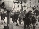 Knights Ready for La Giostra of the Sarecen in Arezzo Photographic Print by Vincenzo Balocchi
