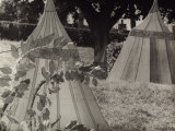 The Campsite, Silhouettes of Tents Photographic Print by Vincenzo Balocchi
