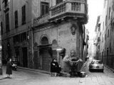 Corner of Borgo San Iacopo and Via Dello Sprone in Florence Photographic Print by Vincenzo Balocchi