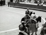 Snapshot of a Bullfight with Some Men on Horseback Photographic Print by Vincenzo Balocchi