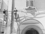 Electricians at Work Photographic Print by Vincenzo Balocchi