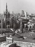 Panorama of Milan Fotodruck von A. Villani