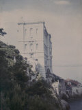 Elegant Fortified Building on the Gulf of Monaco Photographic Print by Henrie Chouanard
