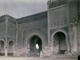 The Bab El-Mansour Gate in Meknes, Morocco Photographic Print by Henrie Chouanard