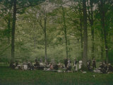Picnic in Compiegne Forest Photographic Print by Henrie Chouanard